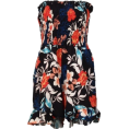 FECLOTHING - Print Off Shoulder Siamese Skirt - Dresses - $23.99