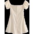 FECLOTHING - Puff Sleeve Shoulder Dress - Dresses - $27.99