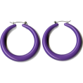 lence59 - Purple Hoop Earrings - Earrings -