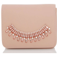 Rocksi - Quiz Pink Jewel Trim Clutch Bag - Clutch bags - $44.00