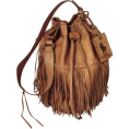 HalfMoonRun - RALPH LAUREN fringed bag - ハンドバッグ -