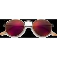 HalfMoonRun - RAY BAN round red sunglasses - Sunglasses -