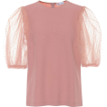beautifulplace - REDVALENTINO Crêpe and tulle top - Srajce - kratke -