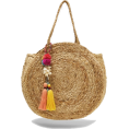 lence59 - ROUND RAFFIA HANDBAG WITH POMPOMS - Hand bag - 29.95€  ~ $34.87