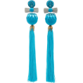 glamoura - Ranjana Khan Embellished Tassel Earrings - Earrings - $395.00