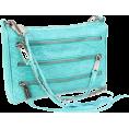 Rebecca Minkoff - Rebecca Minkoff  Mini 5 Zip Clutch Snake Clutch Aquamarine - Clutch bags - $195.00