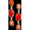 Viktoria Jurica - Red Stone Earrings Earrings Red - Earrings -