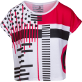 svijetlana2 - Red Black Geometric Graphic Tee - T-shirts - $46.00