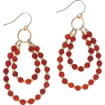 Bev Martin - Red Hoop Earrings - Naušnice -