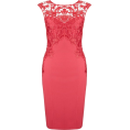 Bev Martin - Red Lace Pencil Dress - Haljine -