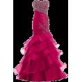 Bev Martin - Red Mermaid Beaded Gown - Dresses -