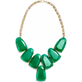 whisper - RentTheRunway Green Stone Bib Necklace - Ogrlice - $30.00  ~ 25.77€