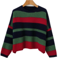 FECLOTHING - Retro wild loose striped colorblock pull - Swetry - $45.99  ~ 39.50€