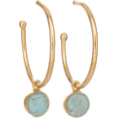 lastchance  - Reversible Teal Drop Hoop Earrings - Earrings -