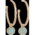 lastchance  - Reversible Teal Drop Hoop Earrings - Brincos -