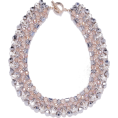 cilita  -  Rhinestone and bead collar necklace - Necklaces -