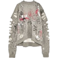 Elie - Ripped paint stains sweatshirt - Пуловер -