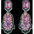ValeriaM - River Island Green Pink Drop Earrings - Earrings - £10.00  ~ $13.16