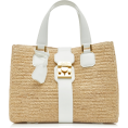 beautifulplace - Riviera Leather-Trimmed Raffia Tote - Hand bag -