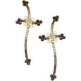 Rose  - Rose Brinelli Cross Earrings - Earrings -