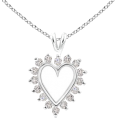 Angara Inc.  - Round Diamond Heart Pendant - Necklaces - $759.00