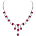 Rocksi - Ruby and Diamond Drop Necklace - Necklaces - £85,500.00  ~ $112,498.47