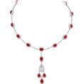 Rocksi - Ruby and Oval Diamond Drop Necklace - Ogrlice - $179,700.00  ~ 154,341.66€
