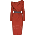 Bev Martin - Ruffle Women's Pencil Dress - Dresses -