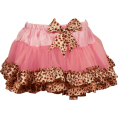 PacificPlex Skirts -  Ruffled Fashion Pettiskirt Tutu Skirt Pink w/ Natural Leopard Pink/Leopard