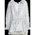 Aida Susi Silva - Ruffle striped blouse - ZIMMERMANN - Long sleeves t-shirts -