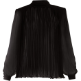 beautifulplace - SAINT LAURENT  Ruched-collar pleated sil - Long sleeves shirts -