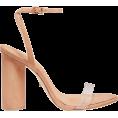 beautifulplace - SCHUTZ Lucite Strap Suede Sandals - Sandals -