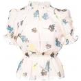 vespagirl - SELF-PORTRAIT floral ruffle peplum top - Shirts - $289.00