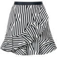 Georgine Dagher - SELF-PORTRAIT striped ruffled skirt - Hand bag -