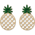 pwhiteaurora - SUGARFIX by BaubleBar Pineapple Earrings - Earrings - $12.99  ~ £9.87