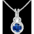 Angara Inc.  - Sapphire Infinity Knot Pendant - Necklaces - $2,559.00