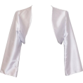 PacificPlex - Satin Bolero Jacket Cover-Up Formal Prom Bridesmaid Junior Plus Size Silver - Giacce e capotti - $24.99  ~ 21.46€