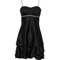 PacificPlex - Satin Bubble Mini Dress Prom Formal Holiday Party Cocktail Gown Bridesmaid Black - Dresses - $79.99