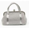 Scarleton - Scarleton Metal Mesh Clutch H3010 Silver - Clutch bags - $19.99
