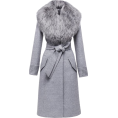 Bev Martin - Sentaler Grey Long Coat with Fur Collar - Jacket - coats -