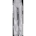 lence59 - Silver Sequin Wide Leg Trousers - Capri & Cropped -