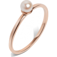 glamoura - Simple Pearl Ring - Rings -