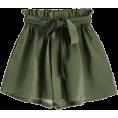 ZAFUL - Smocked Belted High Waisted Shorts - Shorts -