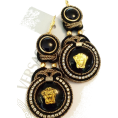 Sabaheta - Soutache earrings made of authentic butt - Earrings -