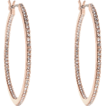 lence59 - Sparkling Rosé Hoop Earrings - Naušnice -