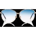 glamoura - Spektre Gala Round-Frame Gold-Tone Sungl - Sunglasses -