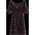 FECLOTHING - Square Print Short Sleeve Tie Dress - Платья - $27.99  ~ 24.04€