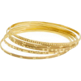 amethystsky - Stamped Gold Bangles - Браслеты -