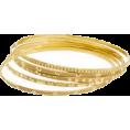 amethystsky - Stamped Gold Bangles - Bracelets -
