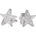 aazraa - Star Studs Diamond Earrings, 14K solid g - Naušnice -